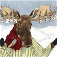 Very Merry Moose Gift Card - New!