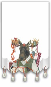 Moose Wrap Holiday Note Pad with Little Tags! - New!