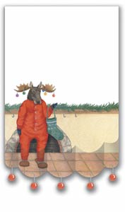 Ornamental Moose Holiday Note Pad with Ornaments - New!