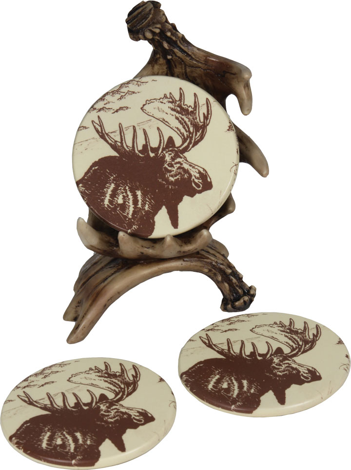 Moose Antler Coasters