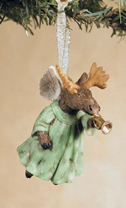 Tooting Moose Collectible Moose Angel Ornament - New!