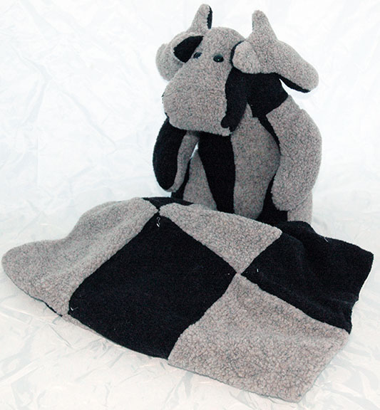 Adopt a Moose - Black & Gray with Matching Blanket
