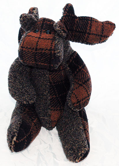 Adopt a Moose - Brown Plaid on Gray
