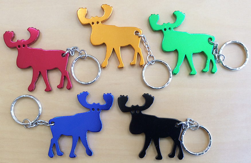 Aluminum Moose Key Chain - Black
