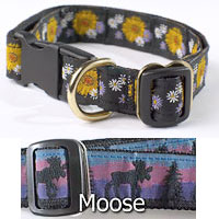 One Inch Fifth Avenue Collar with Moose Pattern
