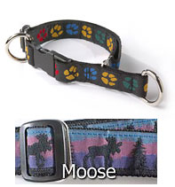 One Inch Limited Slip Collar with Moose Pattern