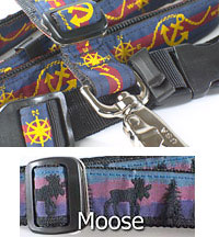 "3/4"" wide Sports Dog Lead with Moose Pattern"