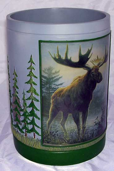 Majestic Moose Waste Basket
