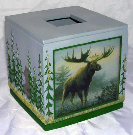 Majestic Moose Tissue Box Cover