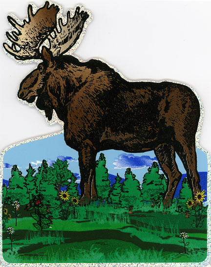 Glitter Moose Decal