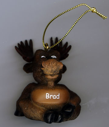 Personalized Holiday Moose Ornament