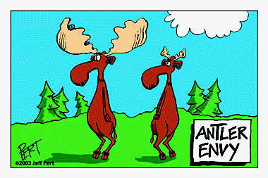 Antler Envy Cartoon Magnet